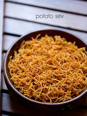aloo sev recipe, potato sev recipe