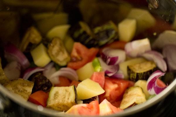 veggies for mangalore style veg sambar recipe