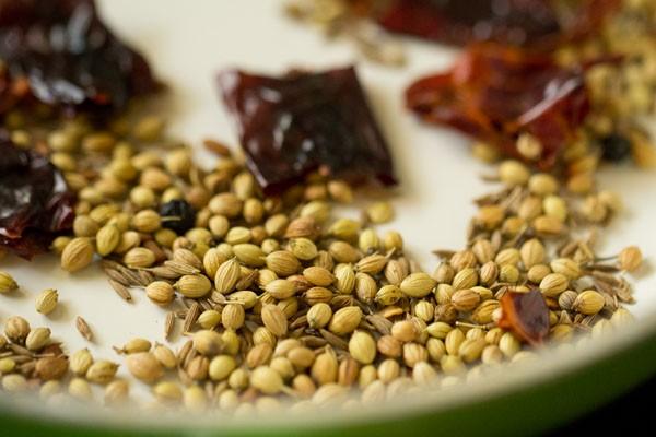 spices for mangalore style veg sambar recipe
