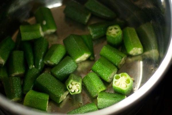bhindi for okra sambar recipe