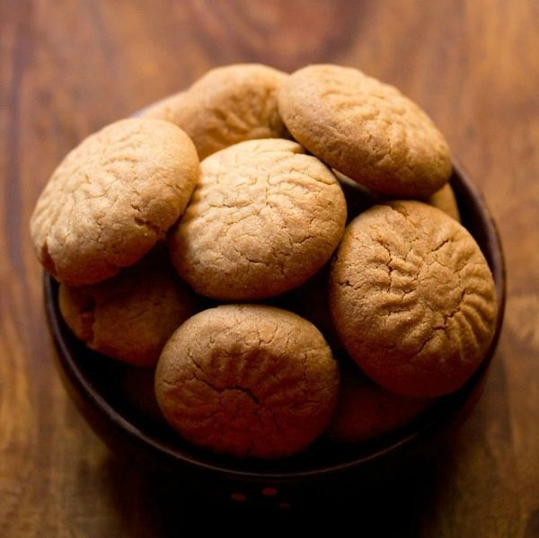 wheat nankhatai recipe, atta nankhatai recipe