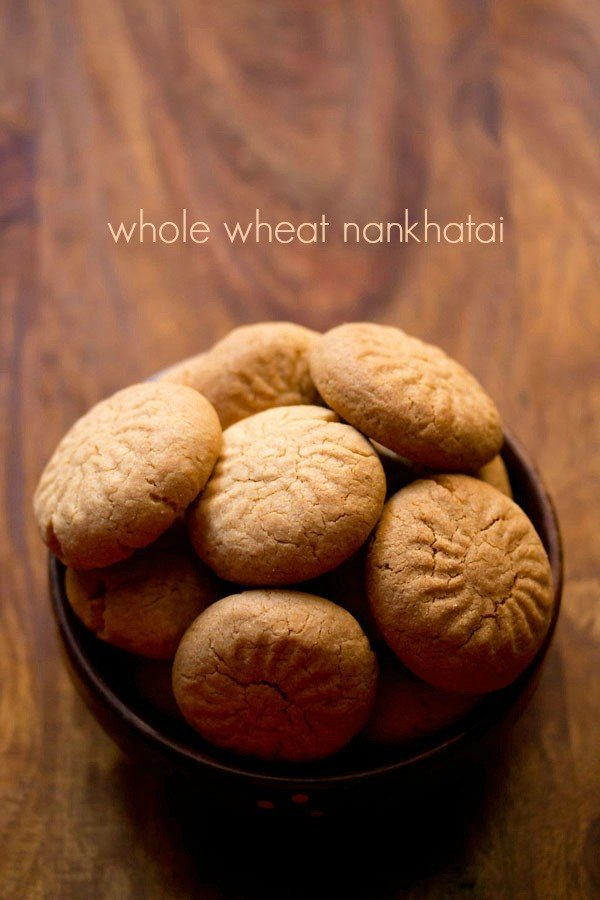 whole wheat nankhatai recipe | how to make atta nankhatai recipe