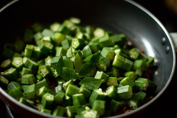 okra for making bhindi fry recipe