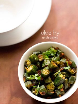 andhra style bhindi fry recipe