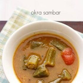 bhindi sambar recipe