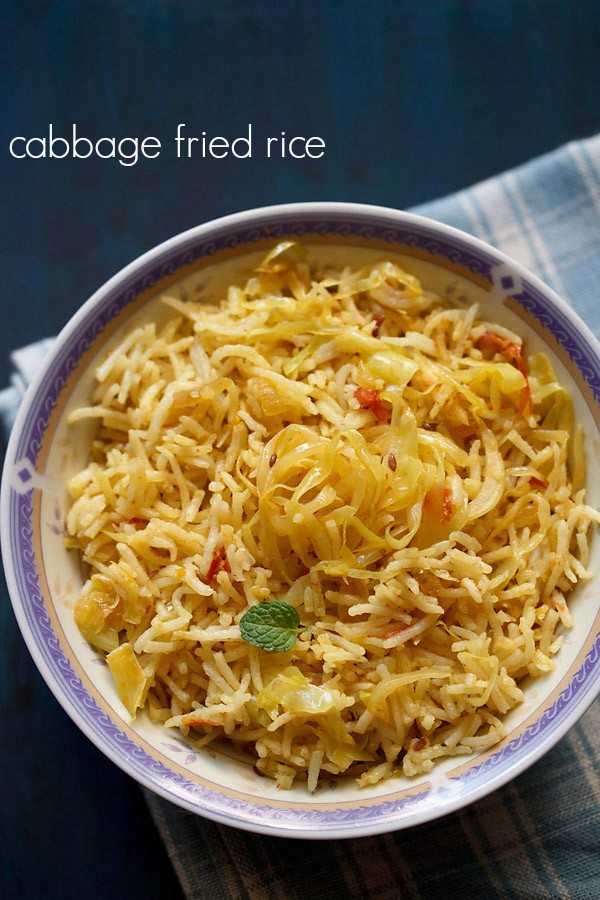 cabbage rice, cabbage fried rice