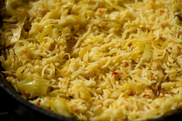 making cabbage fried rice recipe