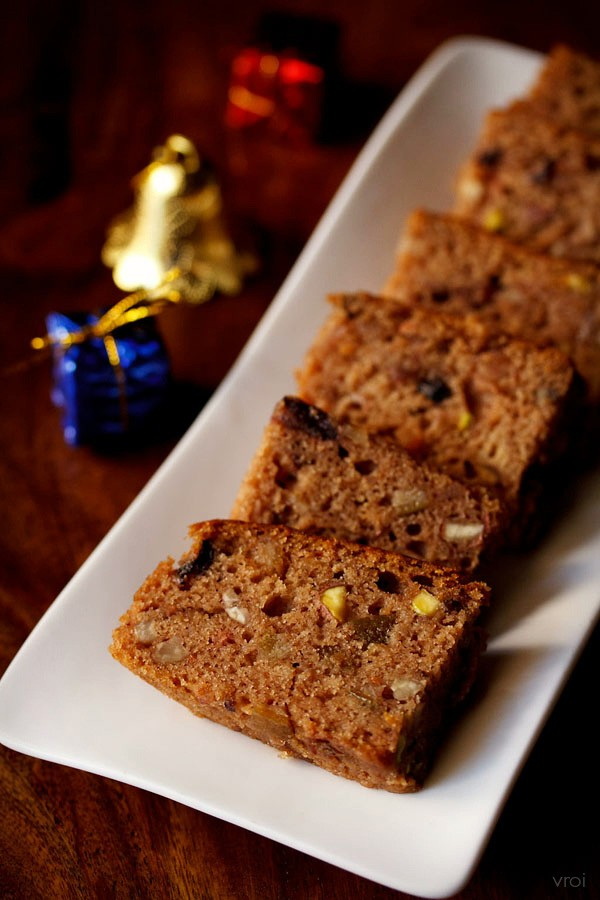 eggless fruit cake recipe, kerala style christmas plum ...