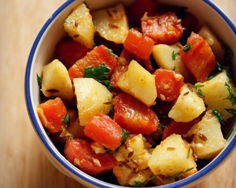 aloo gajar recipe
