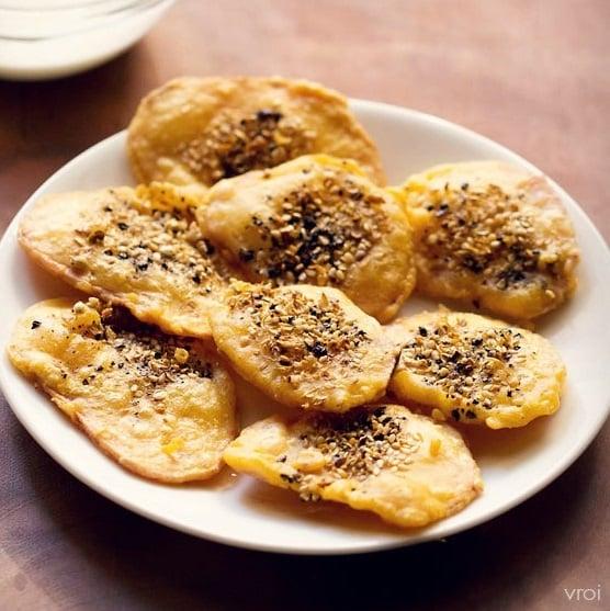 kand pakora recipe, kand bhajiya recipe