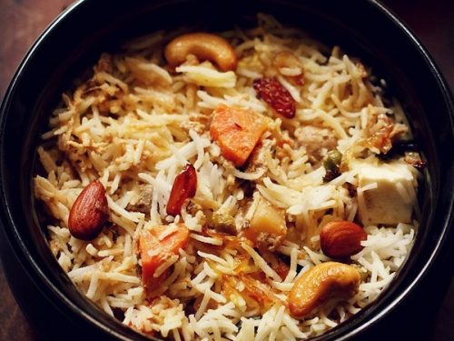 Mughlai Biryani With Vegetables Dassana S Veg Recipes