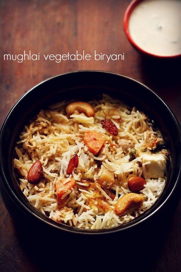 Mughlai veg biryani recipe mughlai vegetable dum biryani recipe forumfinder Choice Image