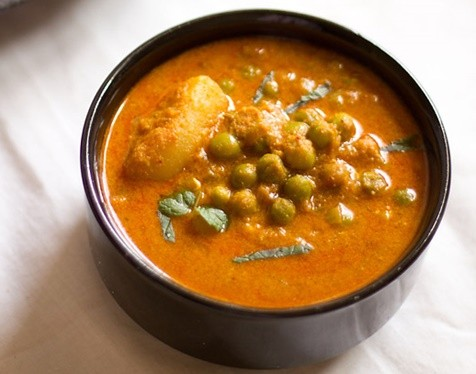 potato peas korma recipe