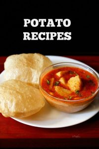 potato recipes | aloo recipes | collection of 65 indian potato recipes