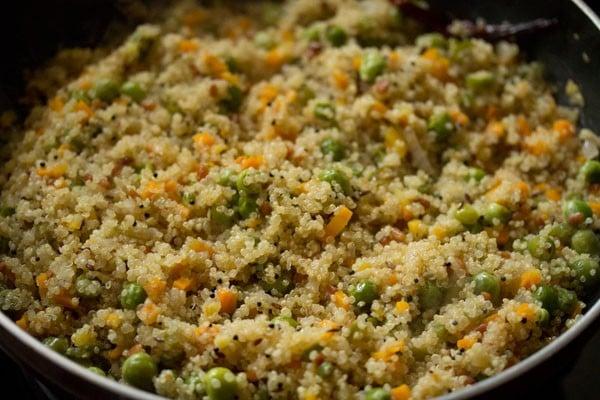 making quinoa upma recipe