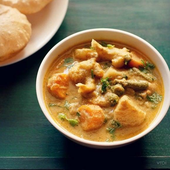 veg kurma recipe, vegetable kurma recipe