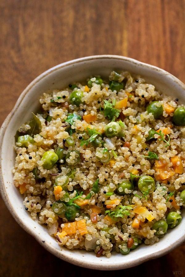 vegetable quinoa upma recipe