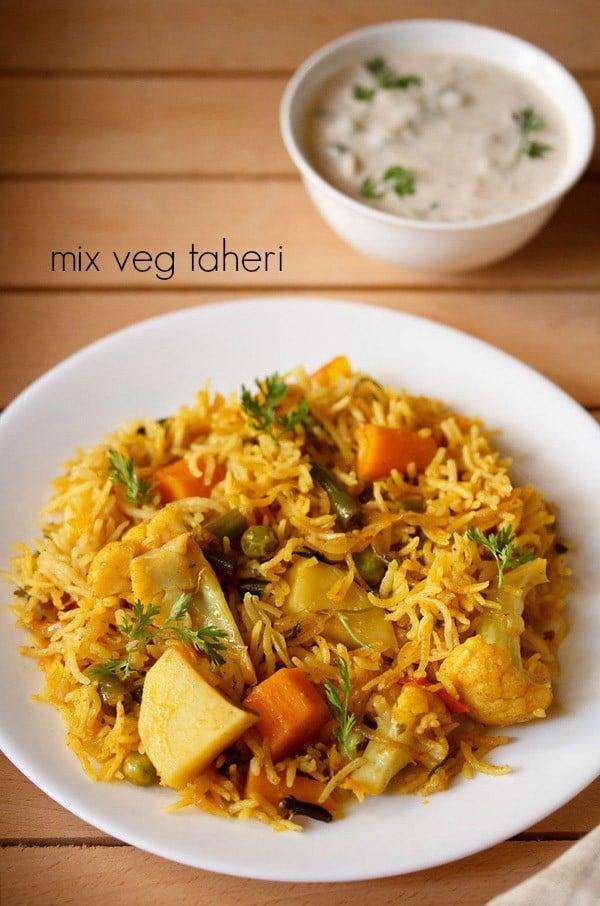 vegetable tahiri recipe, how to make vegetable taheri recipe