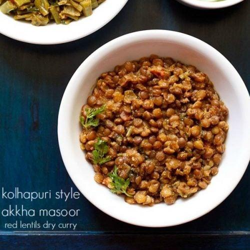 akkha masoor recipe, red lentils recipe