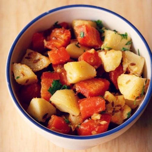 aloo gajar recipe, aloo gajar sabzi recipe, potato carrot recipe