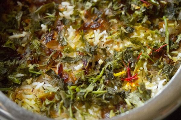 cooked dum biryani
