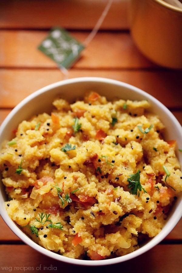 how to make tomato upma recipe, tomato upma recipe