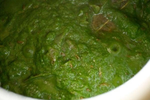 making palak pulao recipe