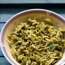 palak rice, spinach rice recipe