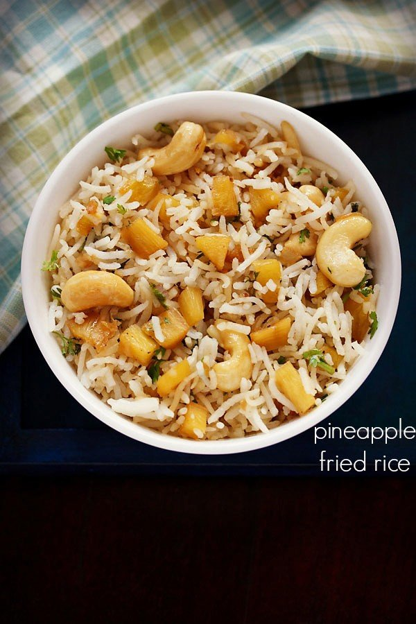 Pineapple fried rice recipe how to make pineapple fried rice recipe ccuart Choice Image