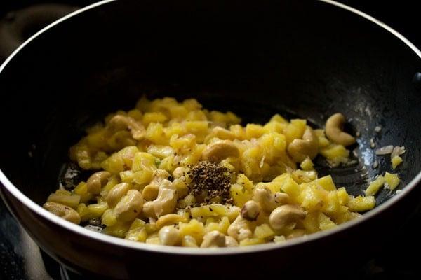 making pineapple fried rice recipe