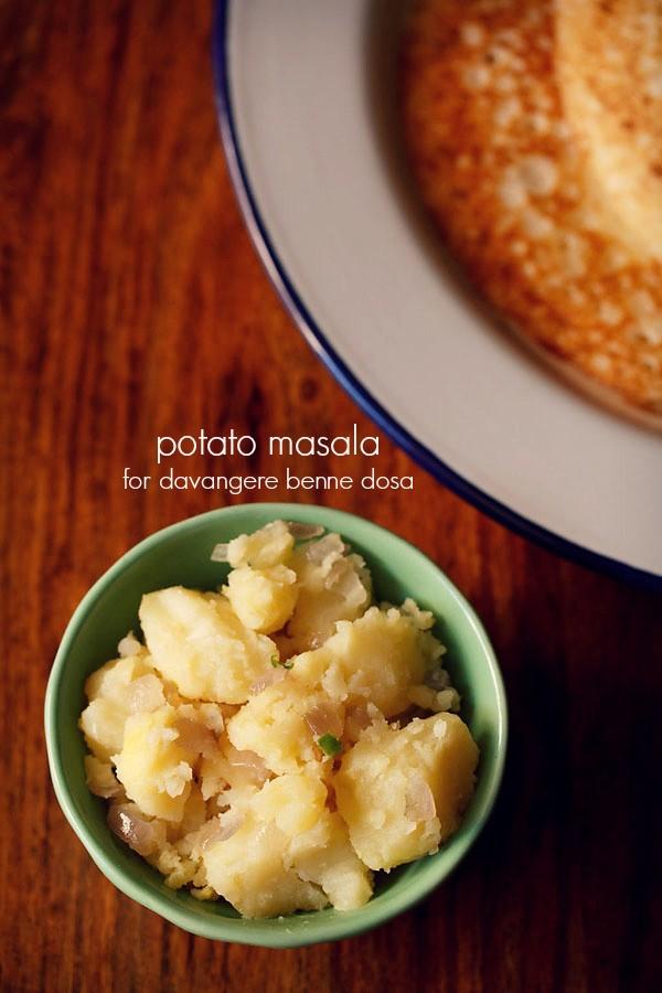 potato palya, potato palya recipe for davangere benne dosa