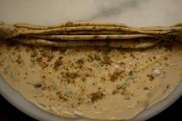 making mint paratha recipe