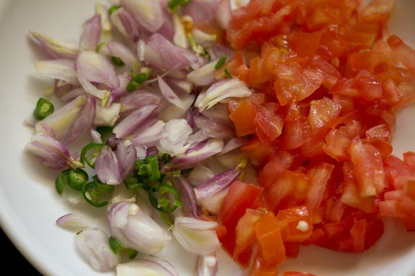chopped onions tomatoes