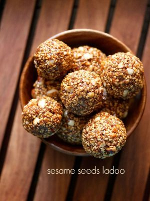 til ke ladoo recipe, how to make til ke laddu | til ladoo recipe