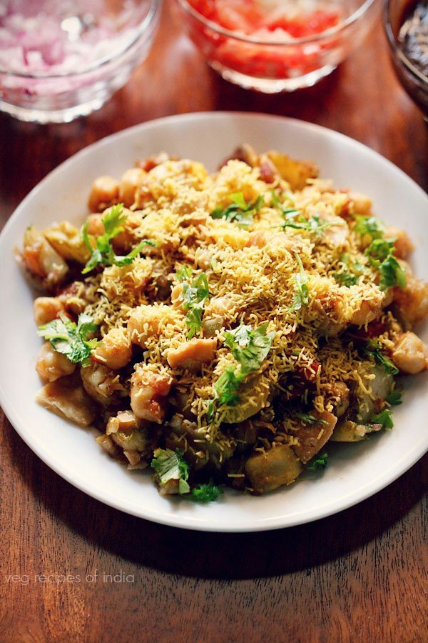 chana aloo chaat recipe