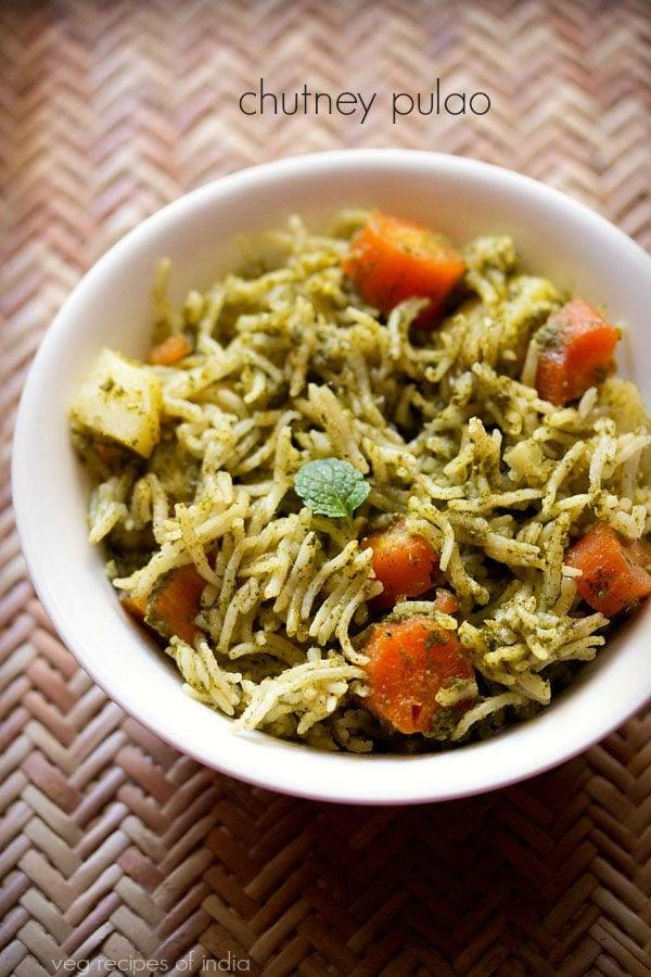 chutney veg pulao recipe