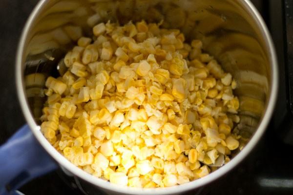 corn for sweet corn kheer recipe