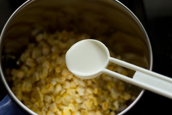 milk for sweet corn kheer recipe