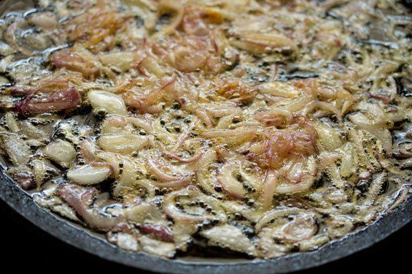 onions for hyderabadi veg biryani recipe