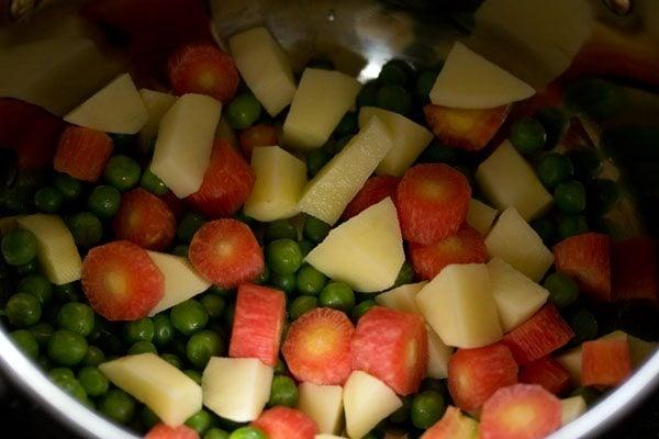 vegetables for hyderabadi veg biryani recipe
