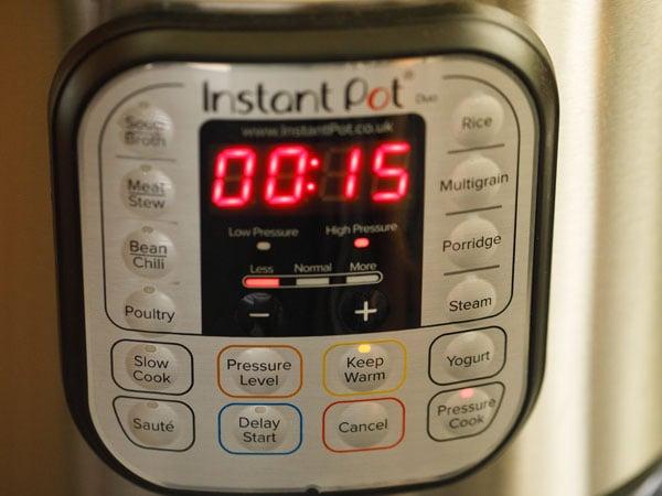 pressure cooking lentils in instant pot