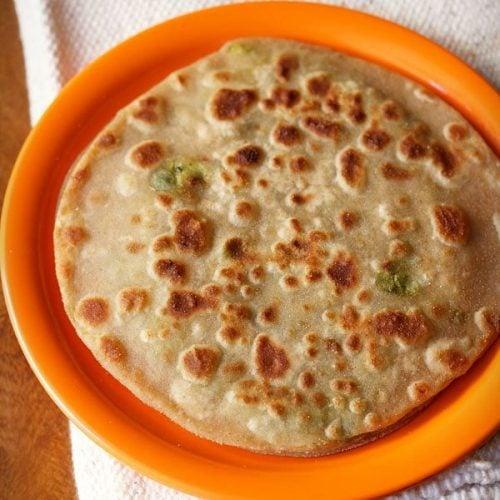peas paratha recipe, matar paratha recipe