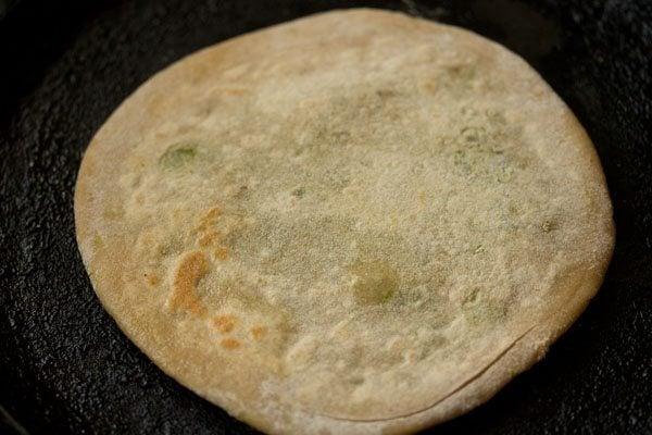 making peas paratha recipe