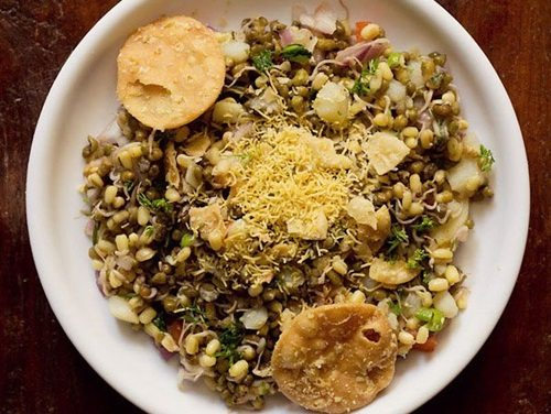 moong sprouts chaat recipe