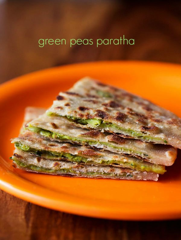 peas paratha recipe, how to make matar paratha | green peas paratha