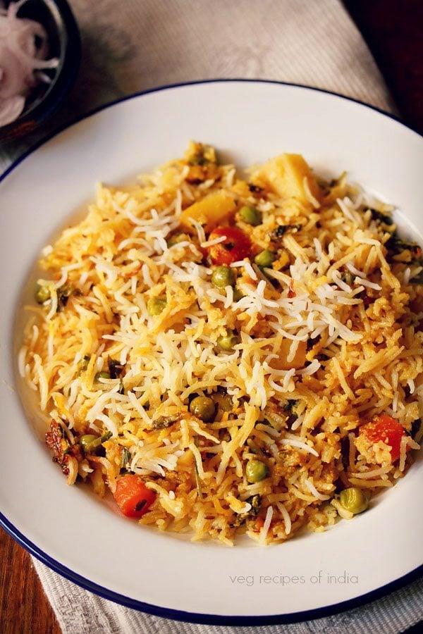 veg kacchi biryani recipe
