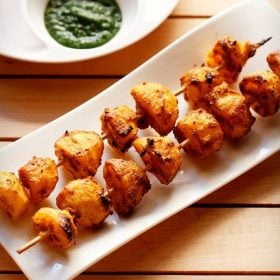 aloo tikka recipe, tandoori aloo recipe