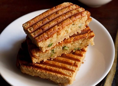 aloo masala grilled sandwich recipe