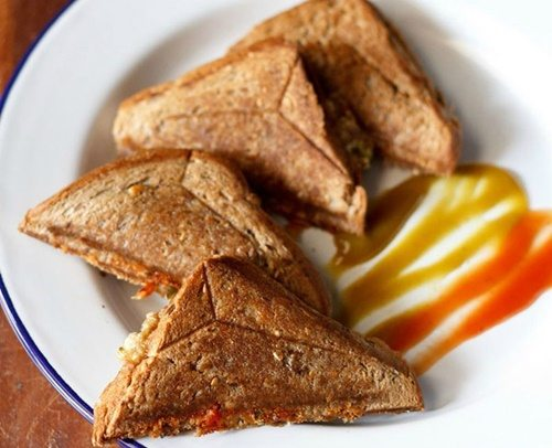 capsicum toast sandwich recipe