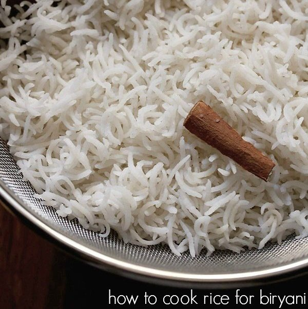 how to cook basmati rice for biryani recipe